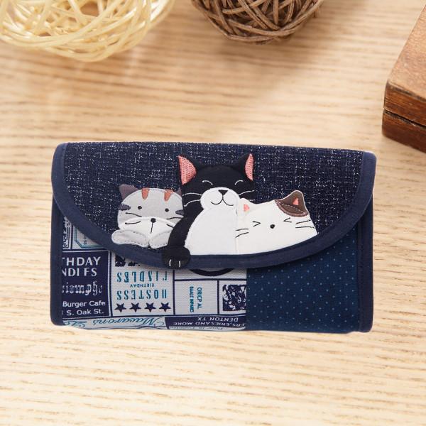 Kiro貓 磁扣翻蓋 雜物收納包/化妝包/手拿包【222956】
