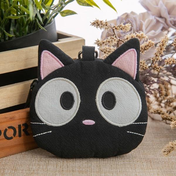 小黑貓 造型 拉鍊零錢包/小物收納包【820145】