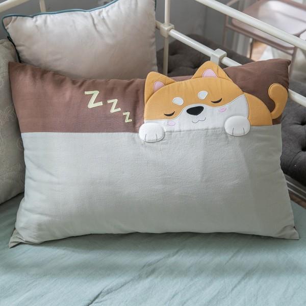 小柴犬 水洗布 拉鍊 枕頭套/不含枕心【830011017】