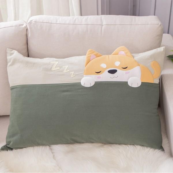 小柴犬 水洗布 拉鍊 枕頭套/不含枕心【830011038】