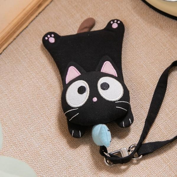 小黑貓 伸縮扣 識別證套/票卡夾【222976】