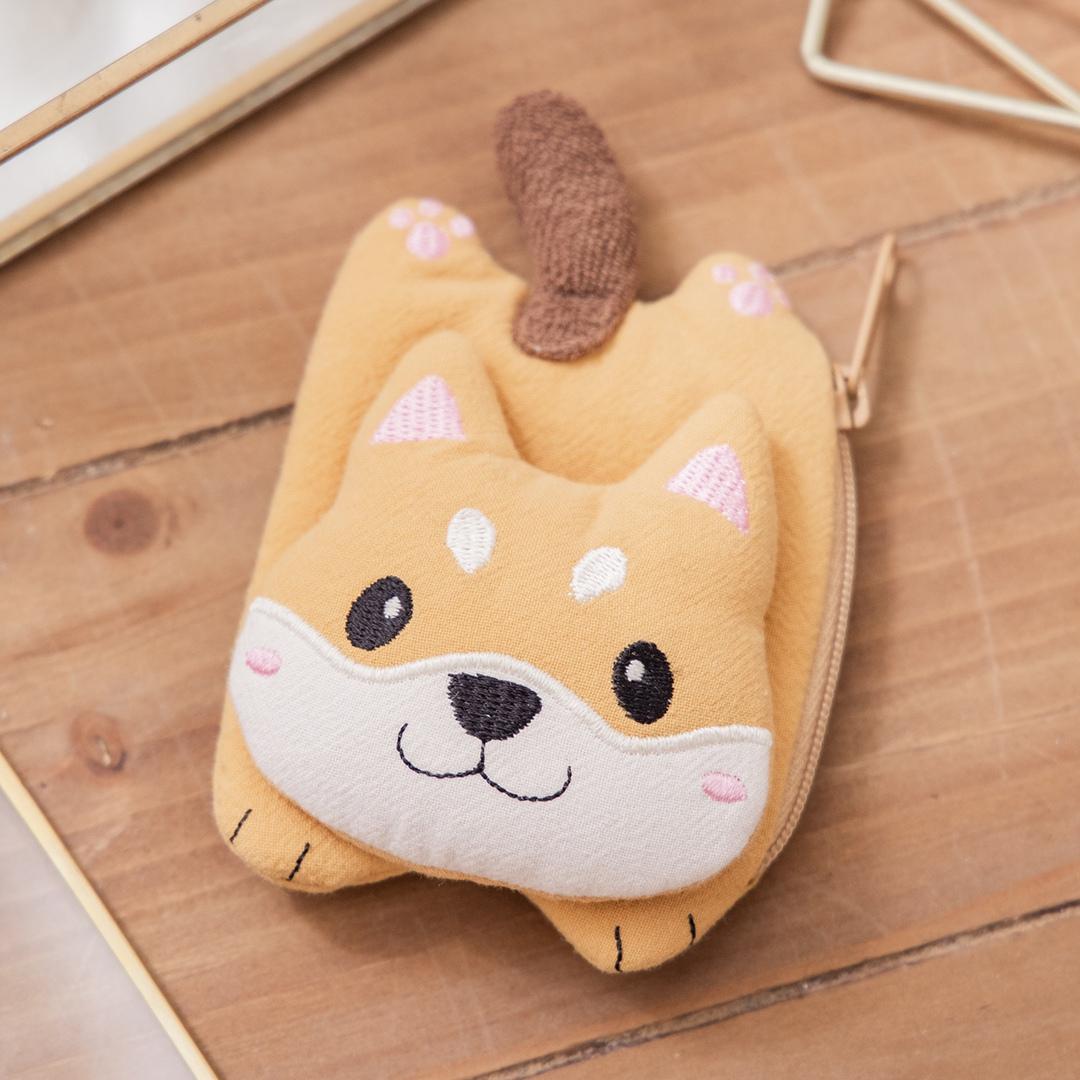柴犬寶寶 造型 鋪棉 小物包/零錢包/耳機收納包【820172】
