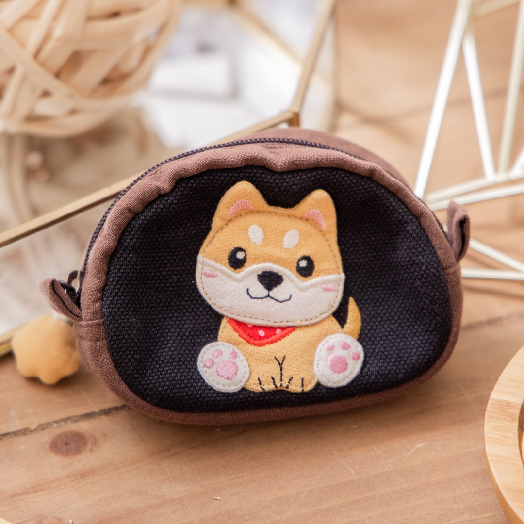 柴犬寶寶 半圓造型 拉鍊 零錢包/小物收納包【820170】