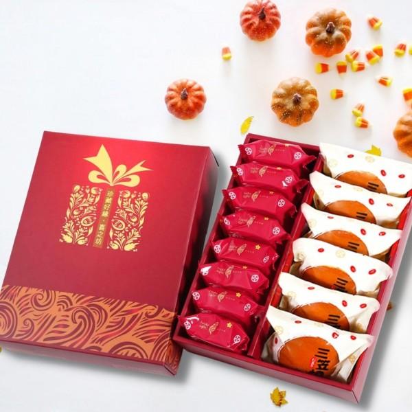 【歡喜好禮】三笠燒(6入)+爺爺奶奶酥(8入)禮盒