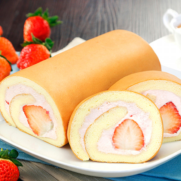 【喜之坊】草莓季開始嚕~ 預購草莓鮮乳捲就享 免運優惠~
