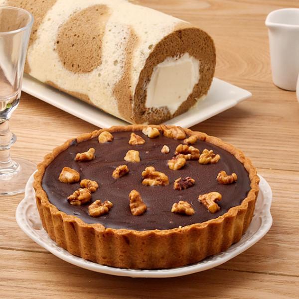 【超值優惠組】生巧克力塔5吋+ Latte 奶凍捲1條