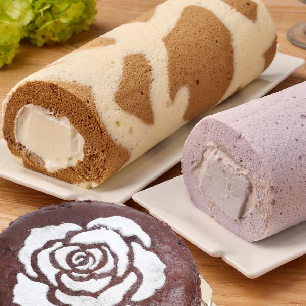 【喜之坊】 拿鐵(芋泥)奶凍捲+古典巧克力 優惠組合  ~超美味上市