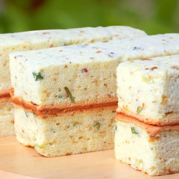 【喜之坊】岩鹽蛋糕~新品上市~蔥香鹹蛋糕夾上香濃花生醬
