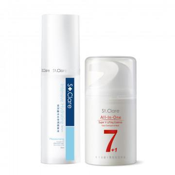 Y18超V緊緻臉頸精華+玻尿酸活水保濕精華液