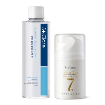 玻尿酸高機能保濕液+Y18全效修護霜