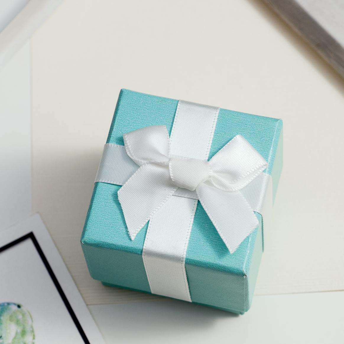 禮物盒-緞帶蝴蝶結Tiffany綠盒