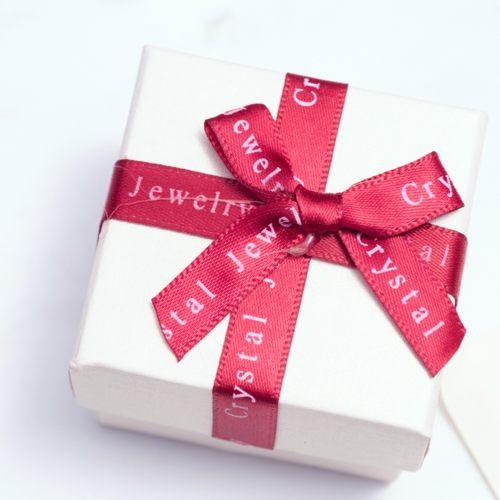 禮物盒-字母緞帶(小-白)