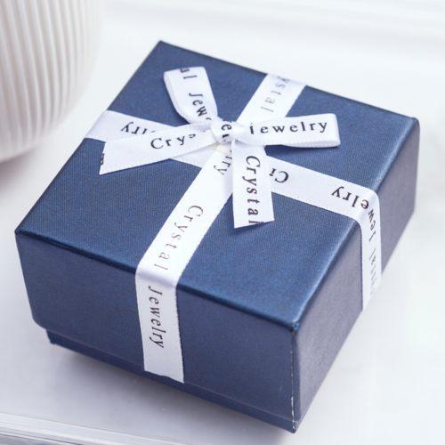 禮物盒-字母緞帶(大-藍)