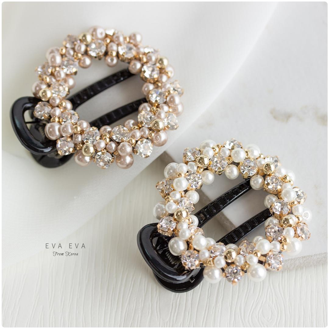 髮夾-高質感精緻手工系列 珠圍翠繞 邊夾/鴨嘴夾