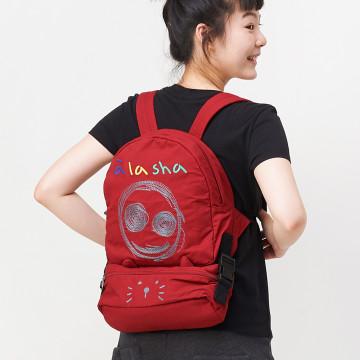 a la sha  Qummi 阿財與Q咪兩用式後背包 *附:可拆斜背小包