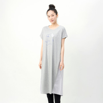 a la sha 狗狗耳朵澎澎條紋洋裝