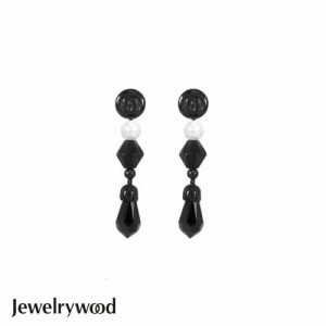 Jewelrywood NAME BEVERLY HILLS黑白水晶耳環