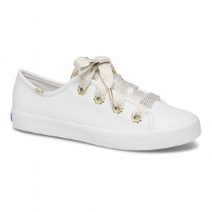 KEDS KICKSTART DAISY EYELET LEATHER-白