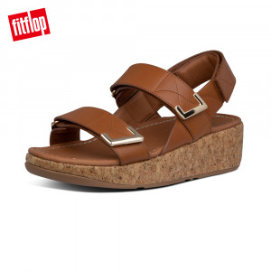 FitFlop REMI ADJUSTABLE BACK-STRAP SANDALS魔鬼氈可調整後帶涼鞋 (淺褐色