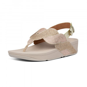 FitFlop PAISLEY ROPE BACK-STRAP SANDALS漸層水鑽後帶涼鞋 (金鉑色)