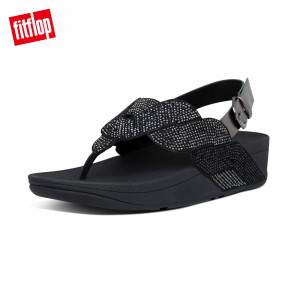 FitFlop PAISLEY ROPE BACK-STRAP SANDALS漸層水鑽後帶涼鞋 (靚黑色)