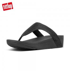 FitFlop LOTTIE GLITZY TOE-THONGS(黑色)