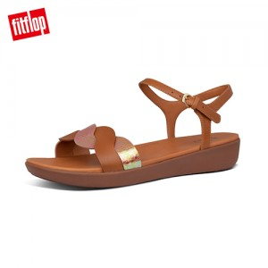 FitFlop REAGAN ROPE BACK-STRAP SANDALS波浪造型後帶涼鞋 (淺褐色)