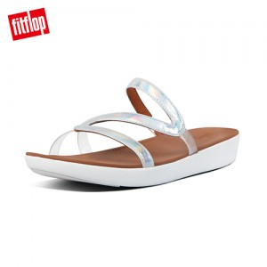 FitFlop PIPPA IRIDESCENT SCALE SLIDES美人魚造型涼鞋 (都會白)