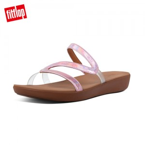 FitFlop PIPPA IRIDESCENT SCALE SLIDES美人魚造型涼鞋 (柔和粉)