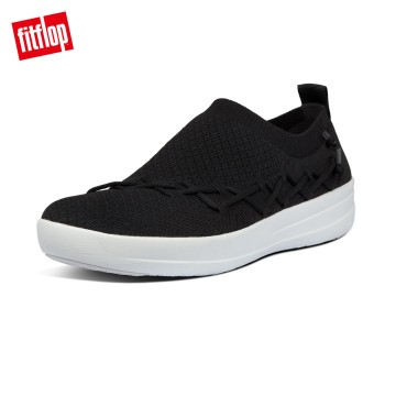 FitFlop CORSETTED SLIP-ON SNEAKERS(黑色)
