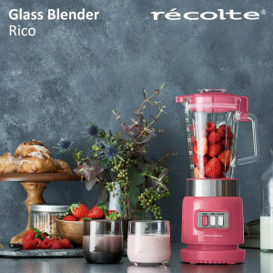 recolte 日本麗克特Glass Blender Rico 耐熱果汁機-蜜糖粉
