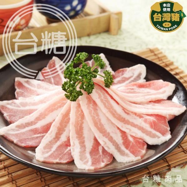 【台糖】台糖安心豚冷凍白玉五花肉片200g/包(876A)