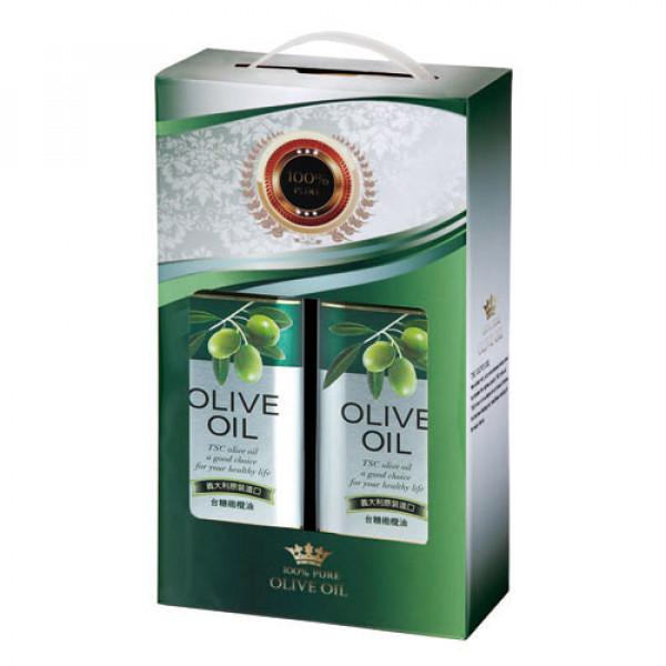【台糖】台糖橄欖油1L*2禮盒(9238)(效期2021/08/26)