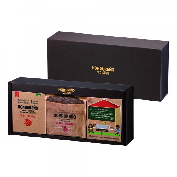 【台糖】高地小農經典咖啡禮盒(濾掛式咖啡盒裝*2+半磅咖啡豆)(G996112)