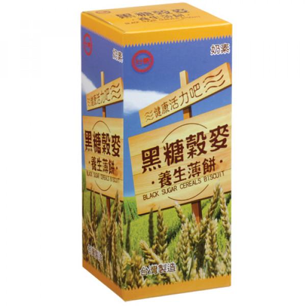 【台糖】台糖黑糖穀麥養生薄餅(12盒/箱)(981C)