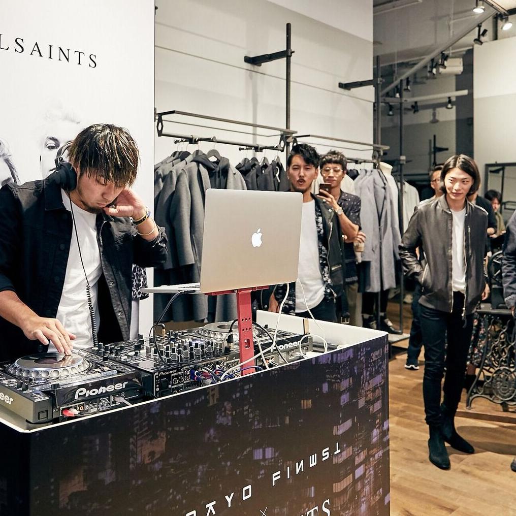 AllSaints x Tokyo Finest Vol.1 前夜祭,眾星齊聚打造時髦英倫夜!