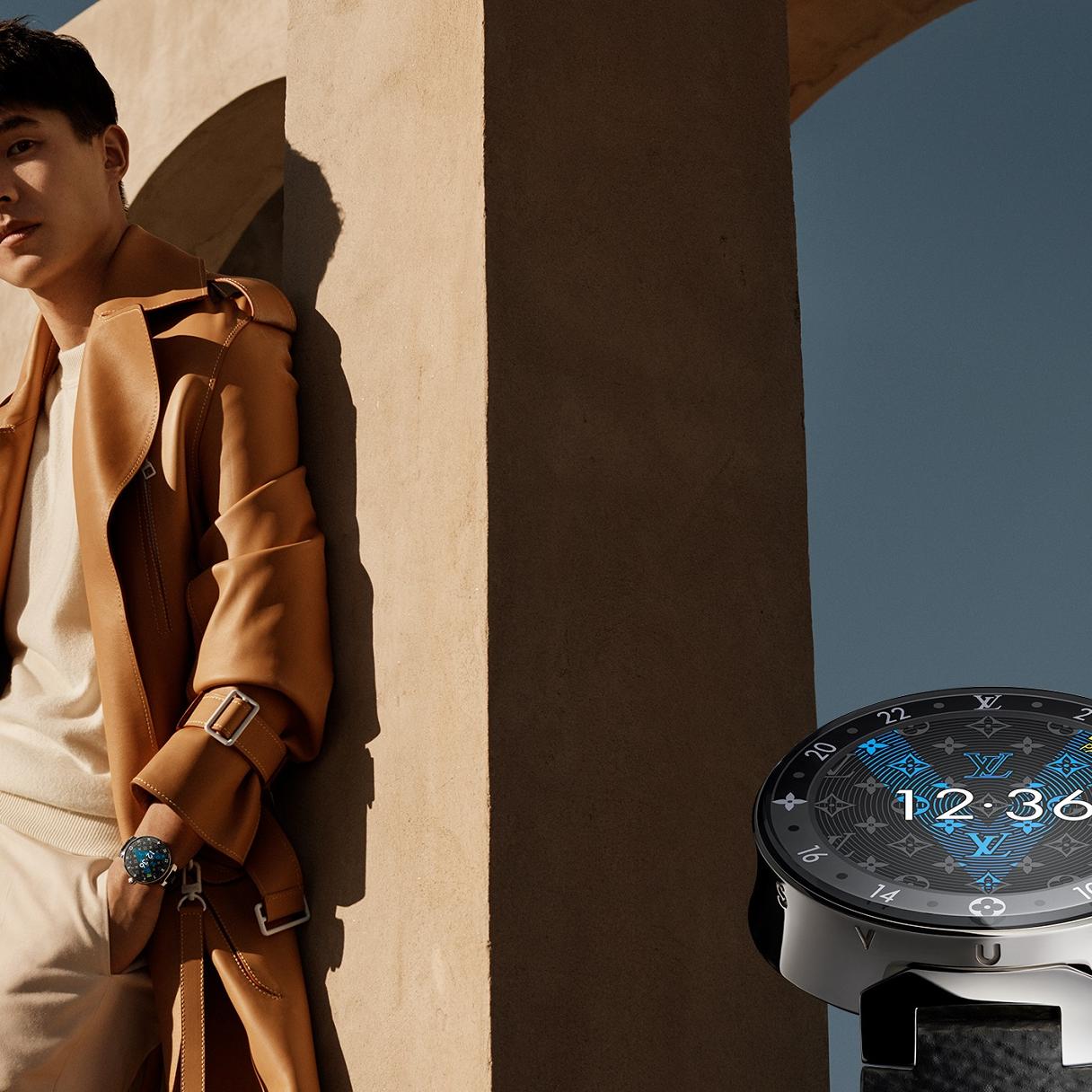 <p>路易威登推出全新「Tambour Horizon」智能腕錶數位形象廣告</p>