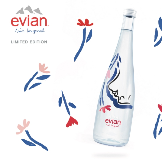 第一瓶女力礦泉水誕生! evian® 首度攜手法國新銳女藝術家 Inès Longevial 推出限量紀念瓶