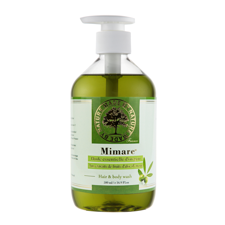 斯巴達男模指定 法國Mimare橄欖精油洗髮沐浴露