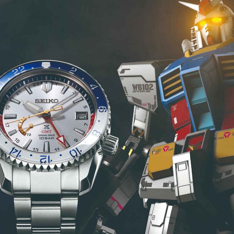 <p>SEIKO 「機動戰士鋼彈」40周年紀念「GUNDAM 40th」限量聯名錶款</p>