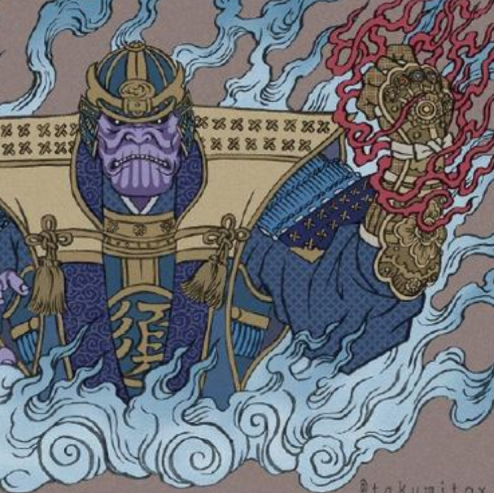 <p>和風版《復仇者聯盟4》型到炸!薩諾斯變將軍、鋼鐵人變鐵武者!</p>