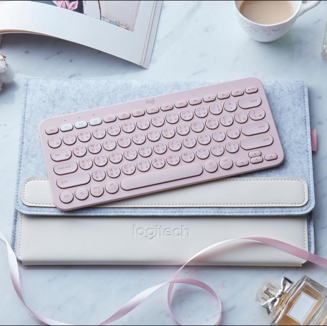 時尚配色「玫瑰粉」、「珍珠白」一千有找!羅技 K380 多工藍牙新色鍵盤上市