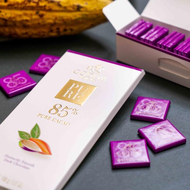 <p>每一口都是最美好的體驗!GODIVA 推出全新 85% 濃醇黑巧克力系列</p>