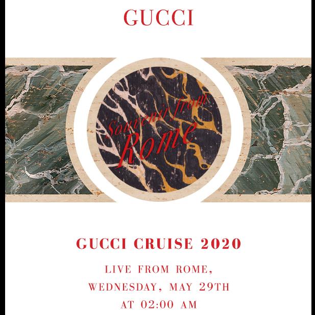 <p>GUCCI 2020 早春時裝秀「全球同步」登場!</p>