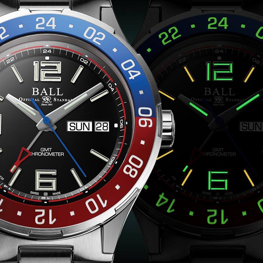 隨心無懼探索!BALL Watch 全新 Roadmaster Marine GMT 世界首枚同時備有星期日期顯示之 GMT 機械腕錶