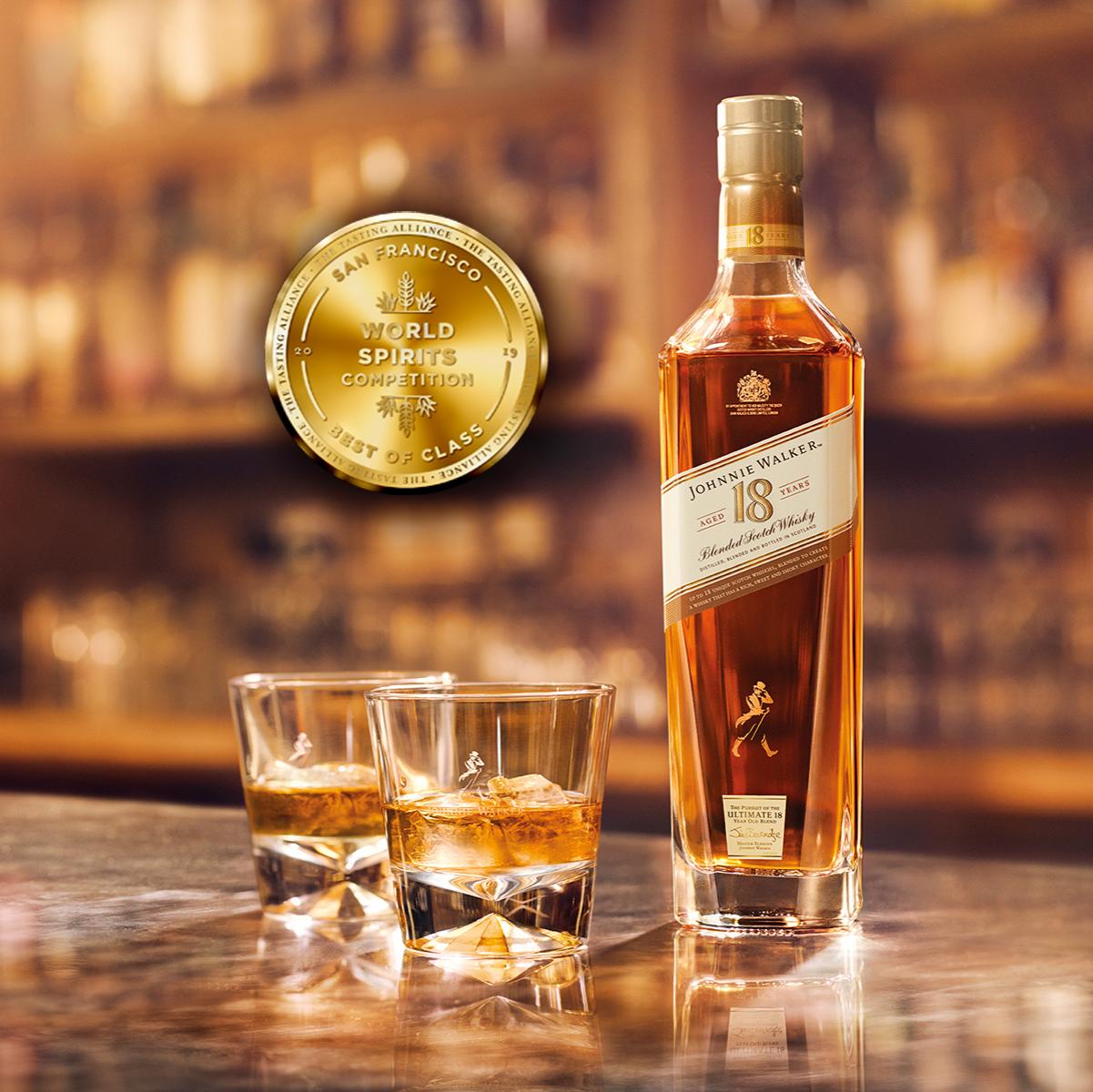 極致完美的平衡風味!JOHNNIE WALKER 18 年蘇格蘭威士忌榮獲舊金山世界烈酒競賽雙金獎