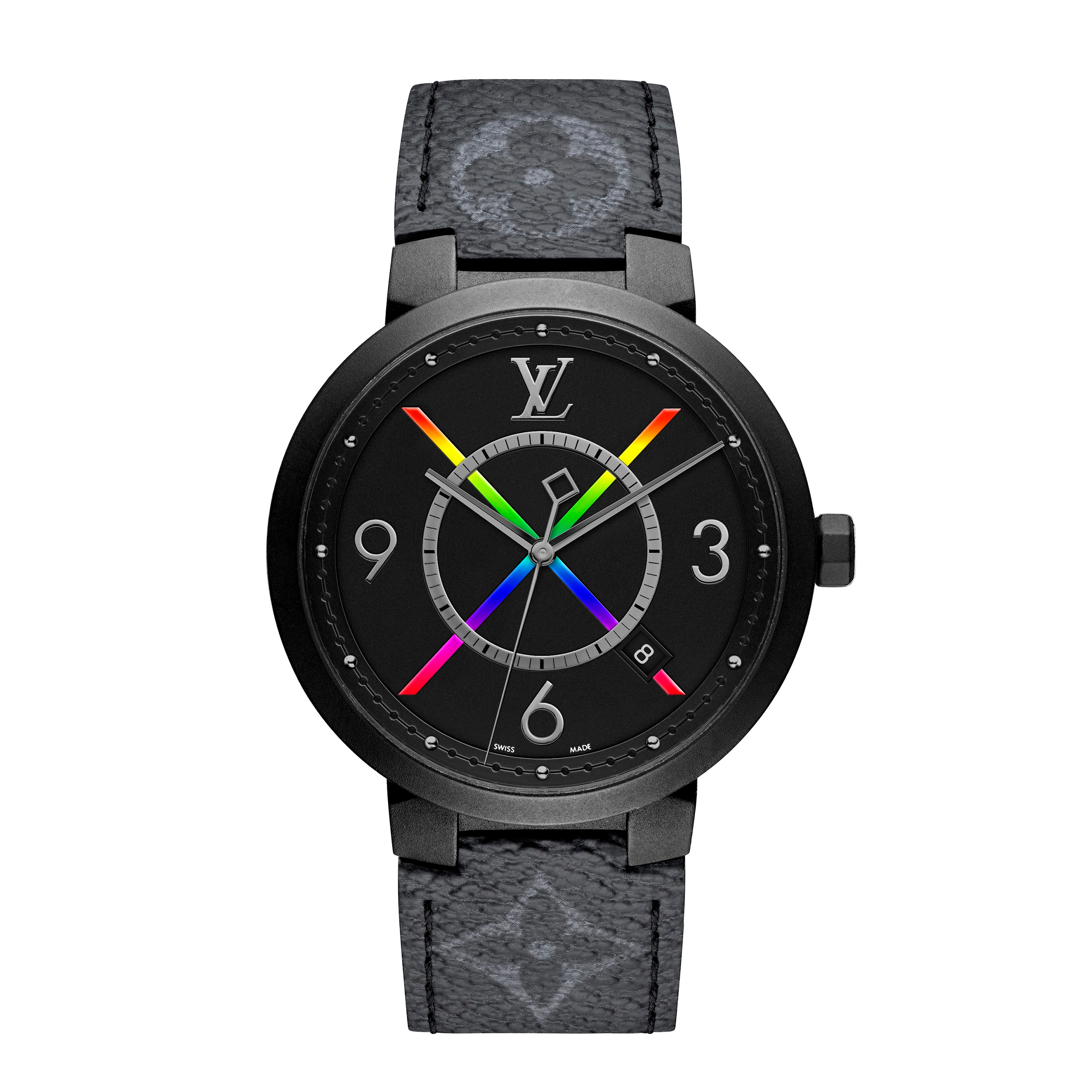 路易威登全新「Tambour Slim Rainbow」腕錶