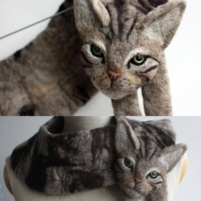 波蘭手作姊妹神還原動物外形 歐美瘋搶貓、兔子、天鵝圍巾!