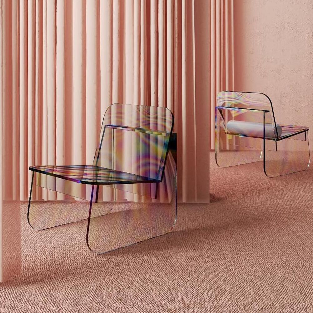 世界需要多點色彩 巴西浪漫的彩虹玻璃椅