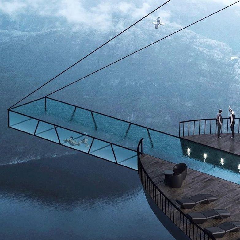 挪威懸崖酒店!在600公尺上游泳也太刺激了吧!